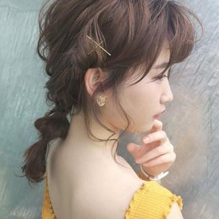 デート 簡単ヘアアレンジ ヘアアレンジ フェミニン ヘアスタイルや髪型の写真・画像