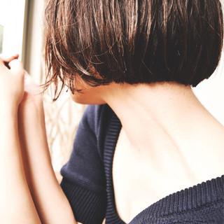 暗髪 ナチュラル ボブ 冬 ヘアスタイルや髪型の写真・画像