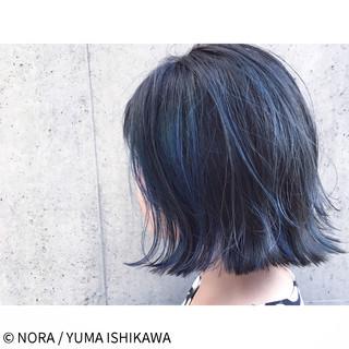 ブルージュ 暗髪 切りっぱなし ストリート ヘアスタイルや髪型の写真・画像