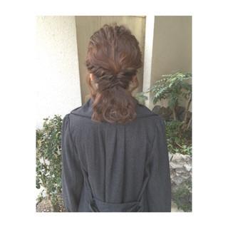 ヘアアレンジ ガーリー ゆるふわ 簡単ヘアアレンジ ヘアスタイルや髪型の写真・画像