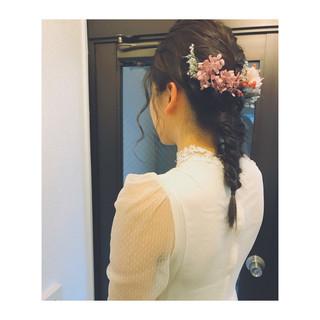 編み込み ショート ヘアアレンジ ミディアム ヘアスタイルや髪型の写真・画像 ヘアスタイルや髪型の写真・画像