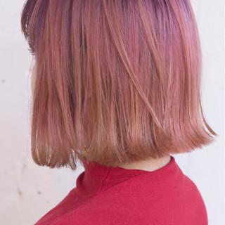レッド ストリート ニュアンス 大人女子 ヘアスタイルや髪型の写真・画像