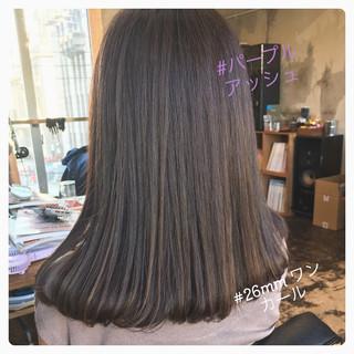 セミロング ヘアアレンジ ナチュラル アンニュイほつれヘア ヘアスタイルや髪型の写真・画像