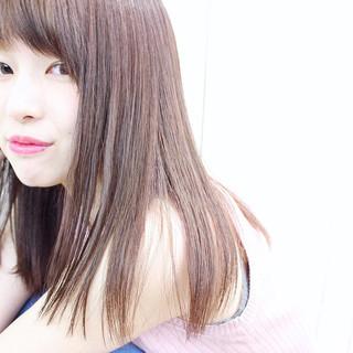 縮毛矯正 ストレート パーマ ナチュラル ヘアスタイルや髪型の写真・画像