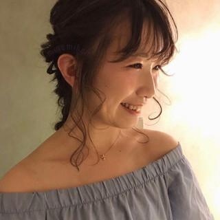 デート ロング フェミニン 結婚式 ヘアスタイルや髪型の写真・画像