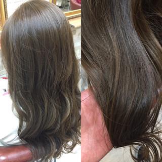 グラデーションカラー アッシュ ハイライト ストリート ヘアスタイルや髪型の写真・画像