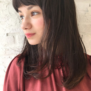 セミロング ガーリー デート ウェーブ ヘアスタイルや髪型の写真・画像