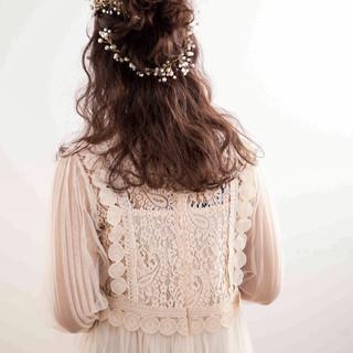 成人式 ガーリー セミロング 結婚式 ヘアスタイルや髪型の写真・画像