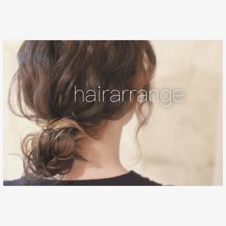 フェミニン セミロング ショート ヘアアレンジ ヘアスタイルや髪型の写真・画像