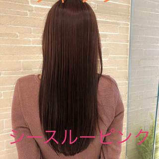 ベリーピンク フェミニン ピンク ピンクパープル ヘアスタイルや髪型の写真・画像