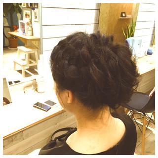 アップスタイル パーティ ヘアアレンジ ねじり ヘアスタイルや髪型の写真・画像