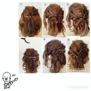 簡単ヘアアレンジ くるりんぱ ボブ ヘアアレンジ ヘアスタイルや髪型の写真・画像 ヘアスタイルや髪型の写真・画像