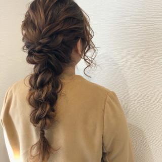 ロング 編み込みヘア ヘアアレンジ ヘアセット ヘアスタイルや髪型の写真・画像