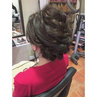 簡単ヘアアレンジ ヘアアレンジ ラフ ロープ編み ヘアスタイルや髪型の写真・画像