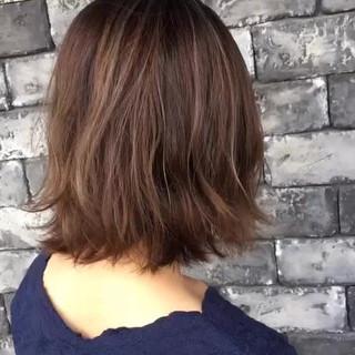 ヘアアレンジ ナチュラル ボブ 外国人風カラー ヘアスタイルや髪型の写真・画像