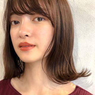 透明感 ナチュラル ミディアム 女子力 ヘアスタイルや髪型の写真・画像 ヘアスタイルや髪型の写真・画像