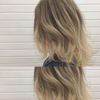 イルミナカラー セミロング 外国人風 ストリート ヘアスタイルや髪型の写真・画像