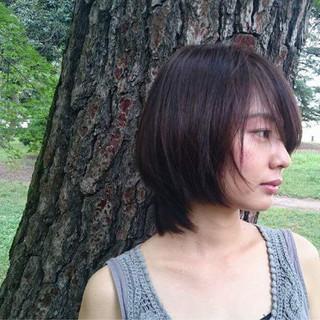 ショート アウトドア 外国人風カラー 似合わせ ヘアスタイルや髪型の写真・画像
