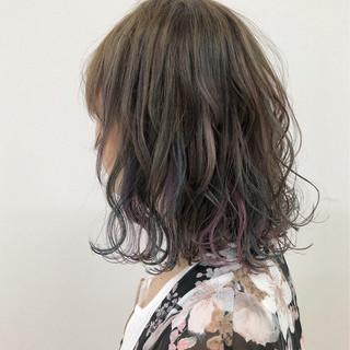 ウェーブ ハイライト ガーリー 大人かわいい ヘアスタイルや髪型の写真・画像