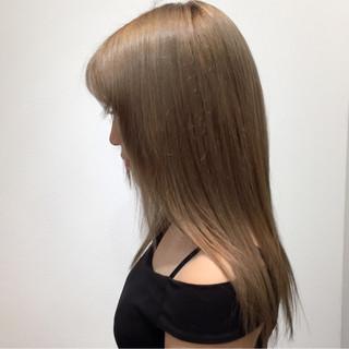 アッシュ ガーリー ミディアム 大人かわいい ヘアスタイルや髪型の写真・画像