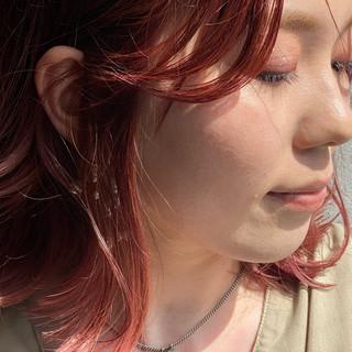 ベリーピンク ピンクバイオレット ピンクアッシュ ラズベリーピンク ヘアスタイルや髪型の写真・画像