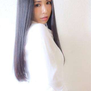 ストレート 黒髪 ロング 大人女子 ヘアスタイルや髪型の写真・画像 ヘアスタイルや髪型の写真・画像