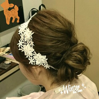 ブライダル ショート ヘアアレンジ 結婚式 ヘアスタイルや髪型の写真・画像 ヘアスタイルや髪型の写真・画像