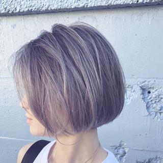 グラデーションカラー ボブ 透明感 ナチュラル ヘアスタイルや髪型の写真・画像