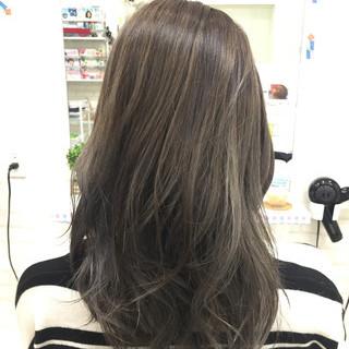 バレイヤージュ 外国人風カラー グラデーションカラー セミロング ヘアスタイルや髪型の写真・画像