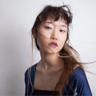 モード ロング 簡単ヘアアレンジ ヘアスタイルや髪型の写真・画像