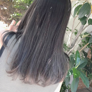 福岡市 ブリーチ セミロング カジュアル ヘアスタイルや髪型の写真・画像