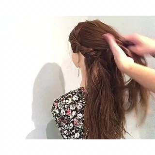 ヘアアレンジ リラックス 簡単ヘアアレンジ ロング ヘアスタイルや髪型の写真・画像