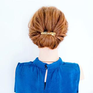 くるりんぱ エフォートレス ヘアアレンジ フェミニン ヘアスタイルや髪型の写真・画像