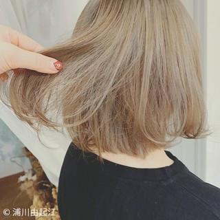 ボブ モテ髪 ゆるふわ 秋冬ショート ヘアスタイルや髪型の写真・画像