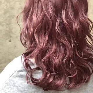 ラベンダー ラベンダーピンク グラデーションカラー ストリート ヘアスタイルや髪型の写真・画像