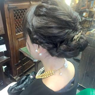 ギブソンタック ヘアアレンジ 大人かわいい フェミニン ヘアスタイルや髪型の写真・画像 ヘアスタイルや髪型の写真・画像