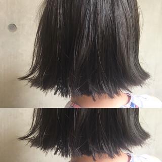 アッシュ 黒髪 モード リラックス ヘアスタイルや髪型の写真・画像