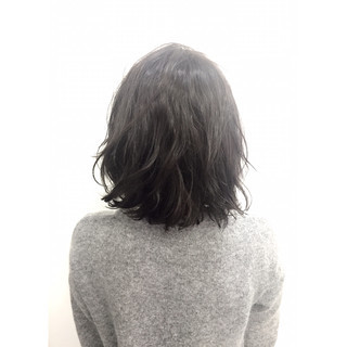 ダブルカラー 暗髪 黒髪 ストリート ヘアスタイルや髪型の写真・画像