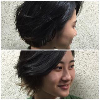 こなれ感 ボブ インナーカラー 外国人風 ヘアスタイルや髪型の写真・画像