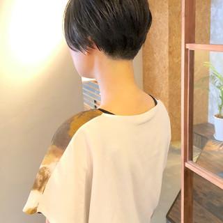 ハンサムショート ナチュラル ショート 夏 ヘアスタイルや髪型の写真・画像