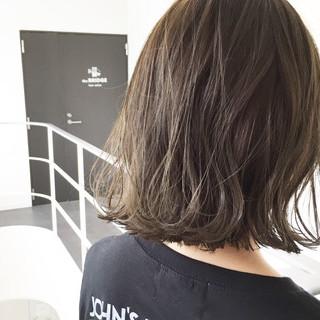 透明感 ウェットヘア ボブ ハイライト ヘアスタイルや髪型の写真・画像
