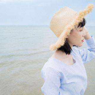 ミディアム 夏 外国人風 ナチュラル ヘアスタイルや髪型の写真・画像