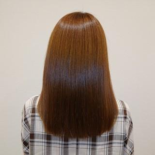 セミロング ナチュラル 縮毛矯正 髪質改善 ヘアスタイルや髪型の写真・画像