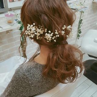 簡単ヘアアレンジ ヘアアレンジ ショート 結婚式 ヘアスタイルや髪型の写真・画像 ヘアスタイルや髪型の写真・画像
