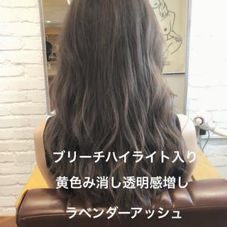 ナチュラル ロング イルミナカラー デート ヘアスタイルや髪型の写真・画像