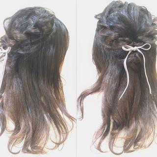 ゆるふわ フェミニン 簡単ヘアアレンジ ショート ヘアスタイルや髪型の写真・画像
