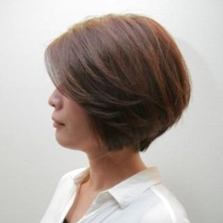 ショート 大人女子 オフィス 艶髪 ヘアスタイルや髪型の写真・画像