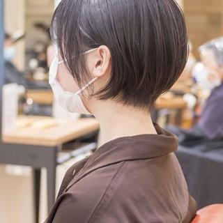 ショートカット ミニボブ ショートボブ ショートヘア ヘアスタイルや髪型の写真・画像