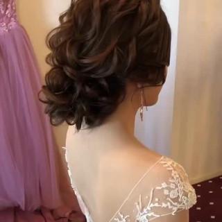 セミロング 結婚式髪型 フェミニン おしゃれさんと繋がりたい ヘアスタイルや髪型の写真・画像
