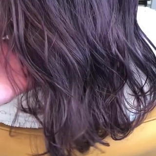 アンニュイ ラベンダーアッシュ ウェーブ ゆるふわ ヘアスタイルや髪型の写真・画像